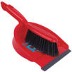 Dustpan and Brushes in Red