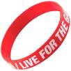 Express Silicone Wristbands in Red