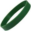 Express Silicone Wristbands in Dark Green