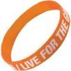 Express Silicone Wristbands in Orange