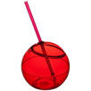 Fiesta Drinks Bowl and Straw in Red