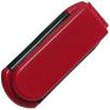 Folding Hairbrush in Red