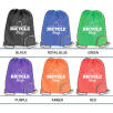 Company branded Folding Drawstring Bag printed business gift