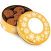 Gold Belgian Chocolate Cookie Tins