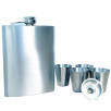 Hip Flask and Cup Sets in Silver