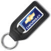 Promotional Large Medallion Leather Keyfobs for Business Gifts