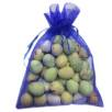Large Organza Bags with Mini Eggs in Blue