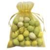Large Organza Bags with Mini Eggs in Gold