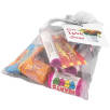 Large Organza Bags with Retro Sweets in Silver