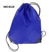 Budget Nylon Drawstring Bags in Dark Blue