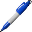 Markie Mini Permanent Marker Pens in Blue/Grey