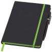 Medium Noir Edge Notebooks in Black/Lime