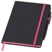Medium Noir Edge Notebooks in Black/Pink