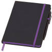 Medium Noir Edge Notebooks in Black/Purple