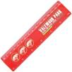 Plastic 15cm Ruler in Red