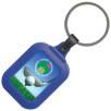 Premium Plastic Keyrings in Blue