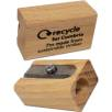 Single Sustainable Wood Pencil Sharpener in Natural