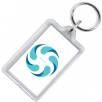 Re Openable Plastic Keyrings in Clear