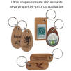 Real Wood Oval Keyrings