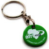 Recycled Plastic Trolley Coin Keyrings