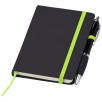 Small Noir Notebooks with Pen in Black/Lime