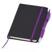 Small Noir Notebooks with Pen in Black/Purple