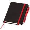Small Noir Notebooks with Pen in Black/Red