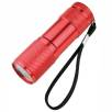 9 LED Metal Torches in Red