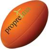 Stress Rugby Ball in Orange