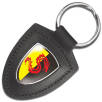Promotional Templar Shield Leather Keyfobs for Business Gifts