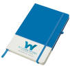 White Band Coloured Notebooks in White/Blue