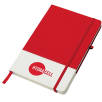 White Band Coloured Notebooks in White/Red