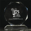 Promotional Medium Crystal Octagon Awards as Event Merchandise