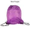 Budget Nylon Drawstring Bags in New Purple