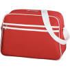 Shoulder Bag in Red/White