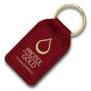 Small Rectangular Leather Keyfobs in Red
