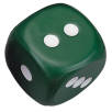Stress Dice in Green