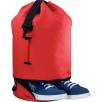 Duffle Bag with Shoe Pocket in Red