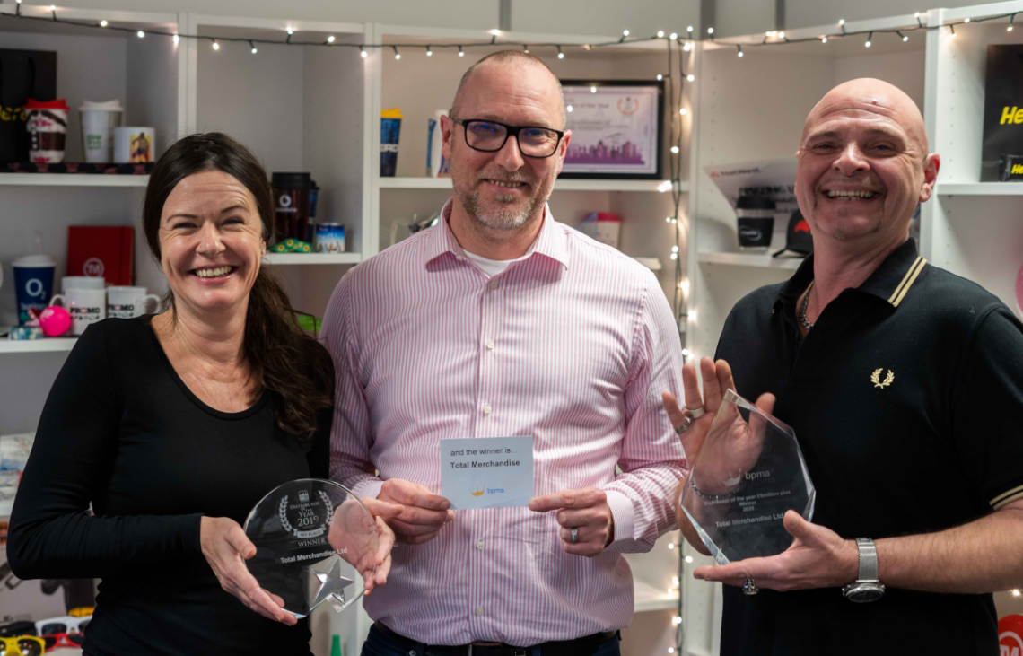 Total Merchandise Wins BPMA's Distributor of the Year 2020 Award
