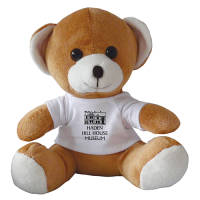10 Inch Jay Jay Bear with T Shirt in Light Brown