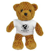 Promotional 9 Inch Jango Bear with a company logo printed to the T Shirt from Total Merchandise