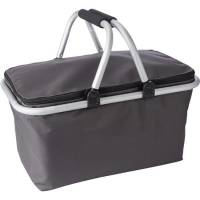 Promotional Picnic Basket Cooler Bags in grey from Total Merchandise