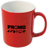 Promotional Durham Duo Mugs in red & white from Total Merchandise