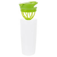 Promotional Fruit Infuser Drink Bottles in White/Lime Green by Total Merchandise