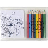 Promotional Colouring Pencil Picture Packs for Campaign Logos