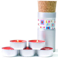 Printed Scented Tea Light Candle Pods for Promotional Campaigns