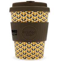 Branded coffee cup in thread needle pattern printed with your logo from Total Merchandise