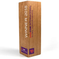 Corporate Branded Real Wood Column Awards Made in the UK