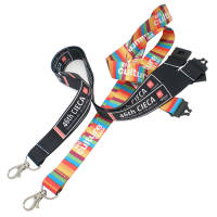 Custom branded 20mm Dye Sub Lanyards with printed logos