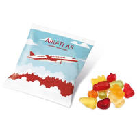 Promotional 10g Bags of Jelly Sweets in a White Printed with a Logo by Total Merchandise